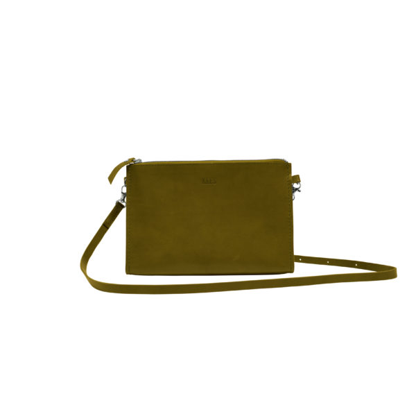 shoulderbag olive green front