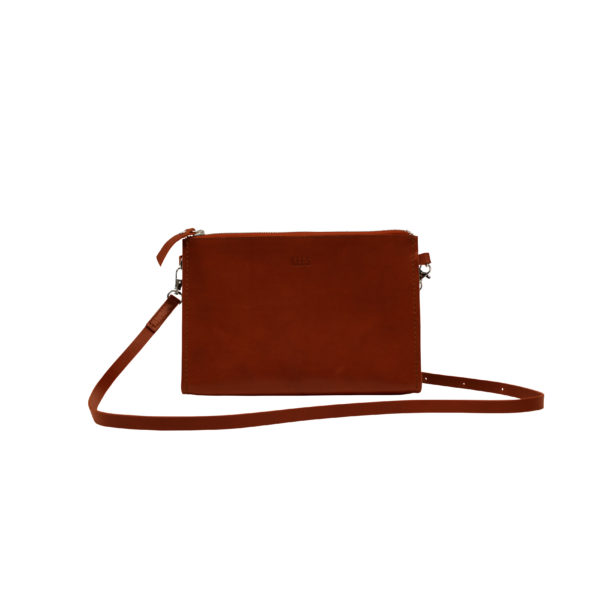 shoulderbag red brown